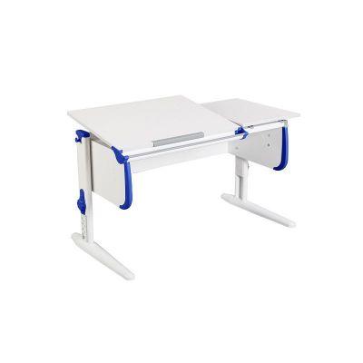 Комплект ДЭМИ Парта СУТ-25 WHITE DOUBLE с раздельной столешницей с креслом Simba и прозрачной накладкой на парту 65х45