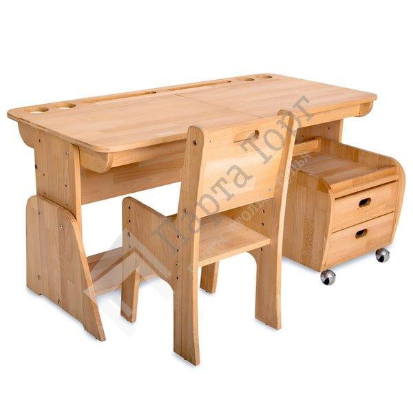 Парта Абсолют-мебель Парта Школярик с двумя пеналами С412 120см (образец) богатый рейтинг foojo кухня моющийся нескользящие коврики для вытирания ног 45 120см черный фон с синими цветами
