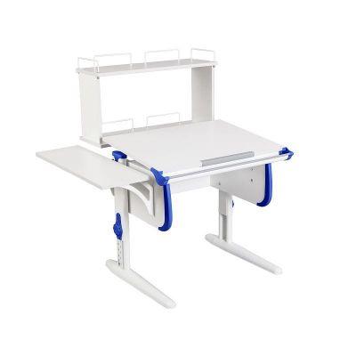 Комплект ДЭМИ Парта WHITE СТАНДАРТ СУТ-24-02Д с креслом Oxford C3 и прозрачной накладкой на парту 65х45