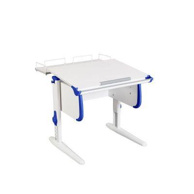 Комплект ДЭМИ Парта WHITE СТАНДАРТ СУТ-24-01 с креслом Oxford C3 и прозрачной накладкой на парту 65х45