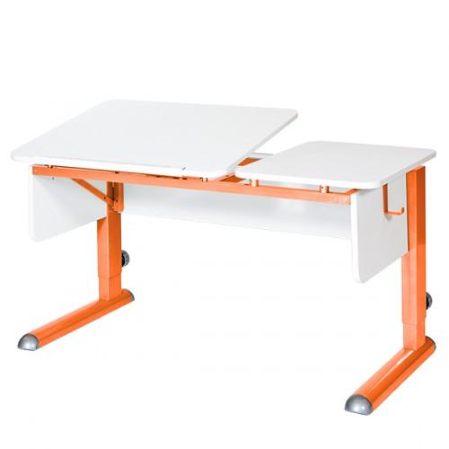 Парта для дома Астек ТВИН-2 Белый Белый Оранжевый, Tvin-2 ЛДСП Белый Белый Оранжевый
