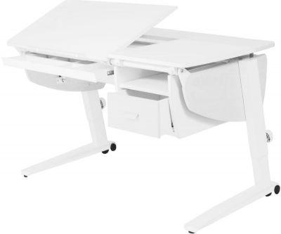 Комплект Астек Парта Прайм с подвесной тумбой и выдвижным органайзером со стулом SF-3 и прозрачной накладкой на парту 65х45