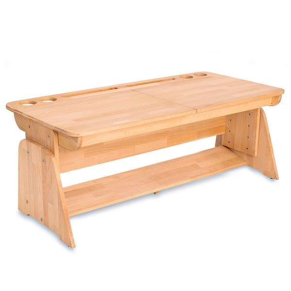 Домашняя парта Абсолют-мебель Школярик с двумя пеналами С412 120см Массив дерева Бук массив