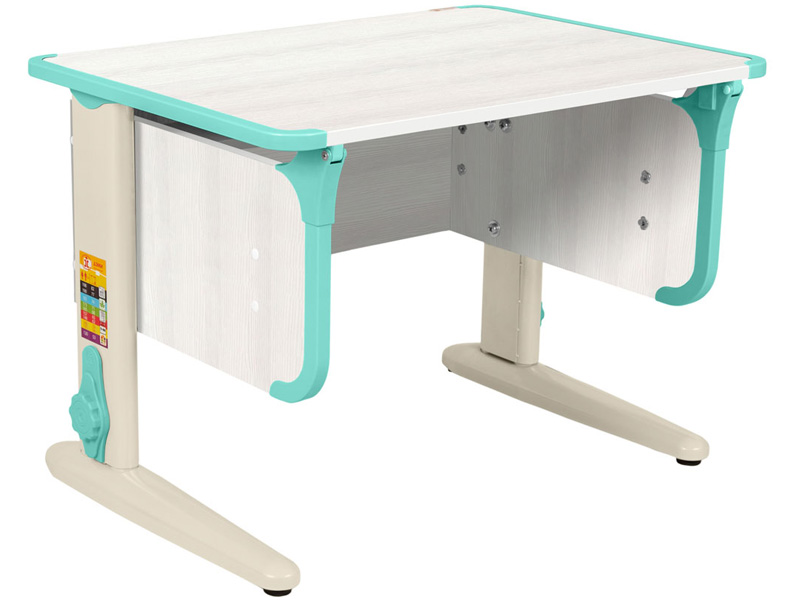 Домашняя парта Дэми СУТ-41 75Х55 см ЛДСП Рамух белый Бежевый Аквамарин школьные парты дэми стол универсальный трансформируемый сут 17 столешница клен