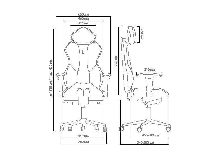 Кресло Kulik System Роскошное кресло Kulik Royal (материал Азур, 3D подголовник)