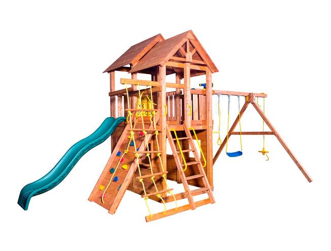 Игровая площадка PlayGarden SkyFort стандарт с закрытым домиком игровая площадка playgarden green hill