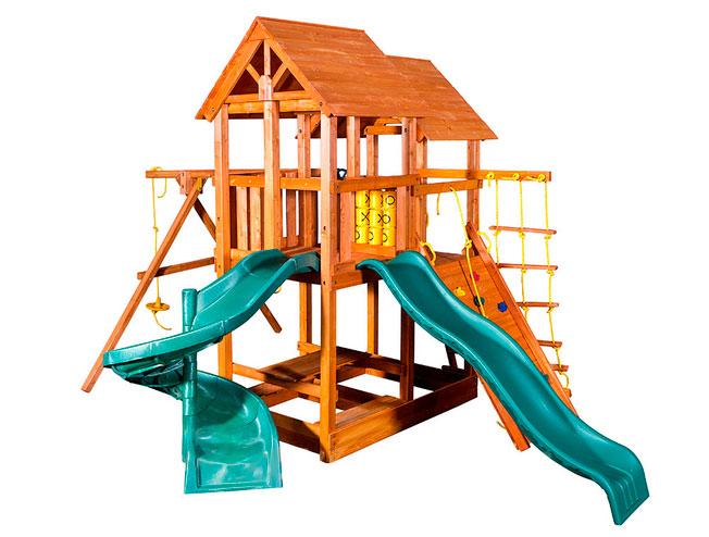 Фото - Детская игровая площадка PlayGarden SkyFort Spiral со спиральной горкой Массив дерева Массив Кипариса телескоп