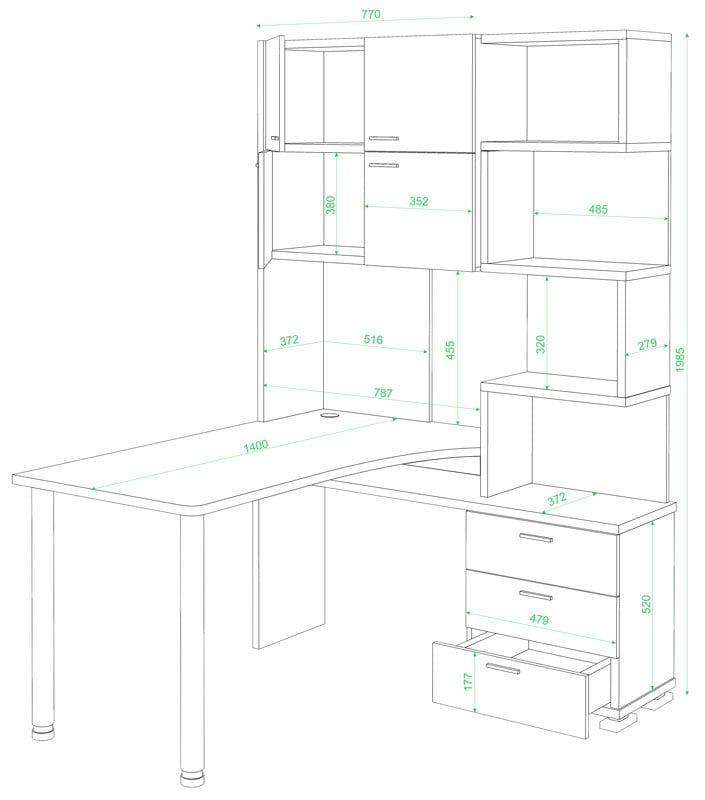 Компьютерный стол МЭРДЭС Стол для школьника СР-500М-160