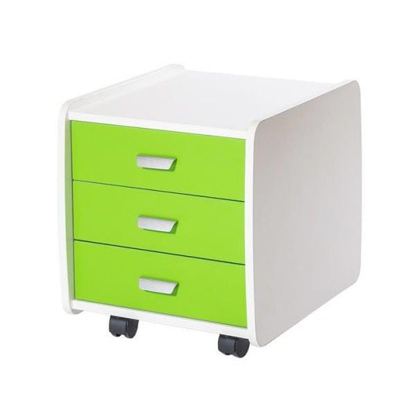 Тумба Лидер 3 ящика с цветными фасадами астек стеллаж для парты лидер