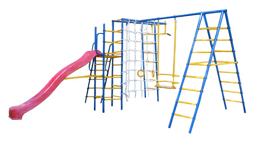 Уличный детский спортивный комплекс Kampfer Total Playground турник перекладина раздвиж формула здоровья 1300 1500мм