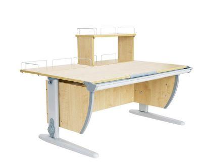 Комплект ДЭМИ Парта СУТ 15-01Д с креслом Stanford Duo и прозрачной накладкой на парту 65х45