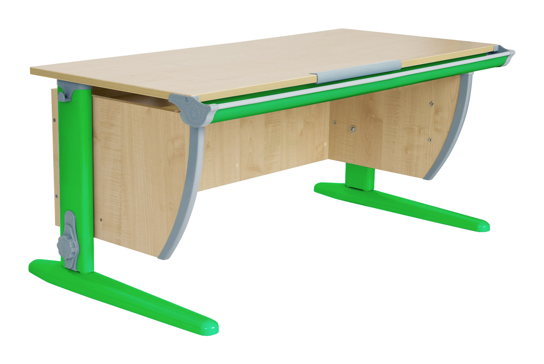Купить со скидкой Парта ДЭМИ СУТ-15-02 120х55 см + 2 задние и боковая приставки Клен Зеленый