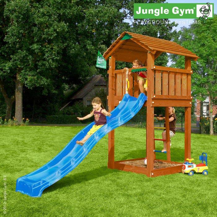 цена на Детская игровая площадка Jungle Gym Cottage Массив дерева Сосна