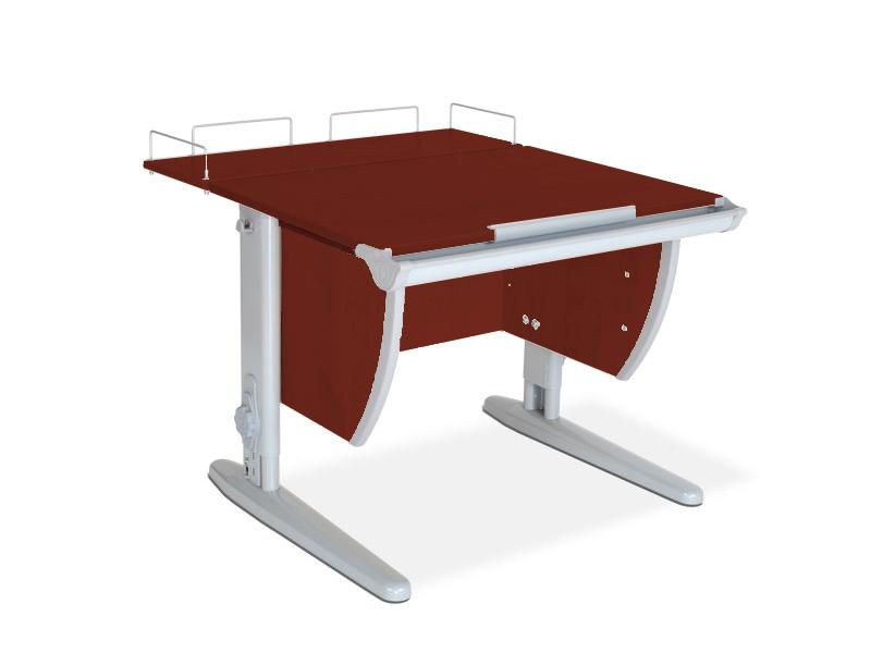 Стол для школьника Дэми СУТ 14-01 + задняя приставка ЛДСП Яблоня Серый