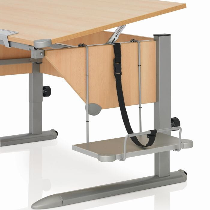 Полки, приставки, надстройки Kettler Полка к парте для системного блока ЛДСП Серебро Серебро