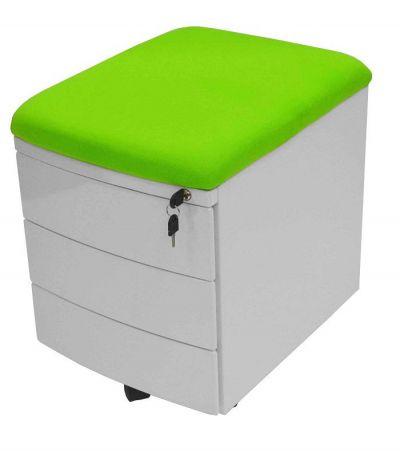 Тумба Драйвер 3 ящика Зеленый Белый