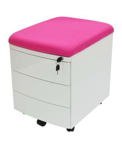Тумба Драйвер 3 ящика Розовый Белый