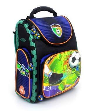 Разноцветный ранец Hummingbird Soccer Club для мальчика (K109)