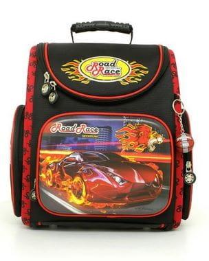 Черный ранец Hummingbird Road Race для мальчика (K32)