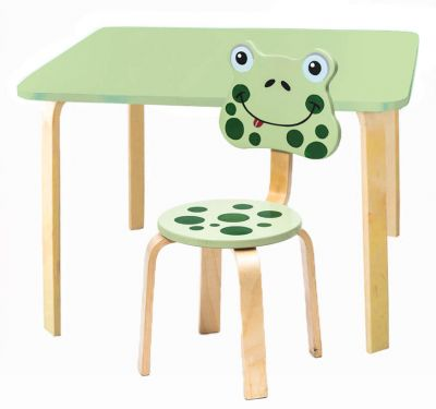 Комплект детской мебели Мордочки с салатовым столиком