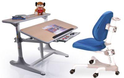 Комплект Mealux Стол Shubert с компьютерным креслом Champion и прозрачной накладкой на парту 65х45