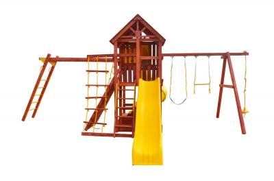 Игровая площадка PlayGarden SkyFort Deluxe II с двухволновой горкой, горкой-трубой и рукоходом