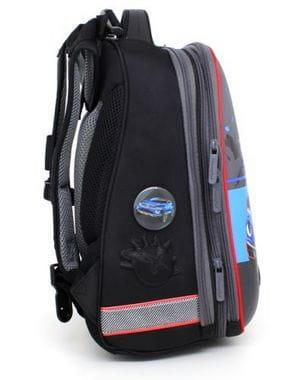 Серый ранец Hummingbird Active Drive для мальчика (T64)