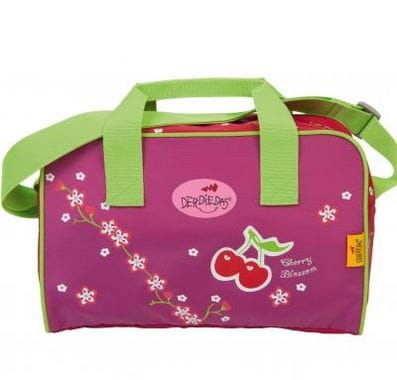 """Ранец ErgoFlex """"Цветущая вишня"""", спортивная сумка, два пенала и папка-бокс"""