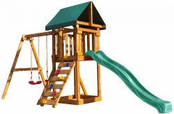 Игровая площадка Babygarden со скалолазкой и горкой 2.4м