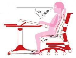 Регулируемая подставка для ног ERGO