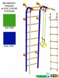 Пристенный (В комплекте с кольцами гимнастическими, канатом, лестницей веревочной)