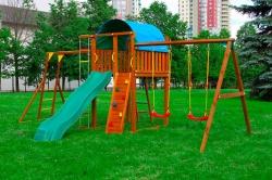 Детский городок Jungle Villa + SwingModule Xtra с рукоходом