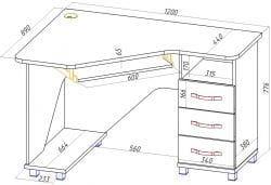Стол для школьника КС 20-27 М1 (КС 20-28 М1)