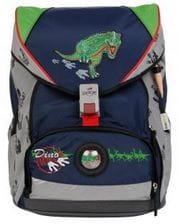 """Ранец ErgoFlex XL """"След динозавра"""", спортивная сумка, два пенала и папка-бокс"""