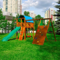 Детский городок Jungle Villa + Climb module Xtra с двумя качелями