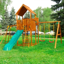 Детский городок Jungle Palace + Swing X'tra + рукоход