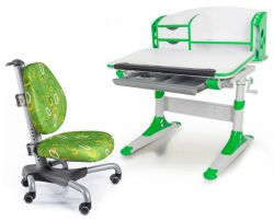 Комплект Mealux Парта Aivengo - S с креслом Nobel и прозрачной накладкой на парту 65х45