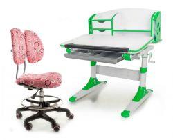 Комплект Mealux Парта Aivengo - S с креслом Simba и прозрачной накладкой на парту 65х45
