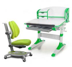 Комплект Mealux Парта Aivengo - S с креслом Stanford Duo и прозрачной накладкой на парту 65х45