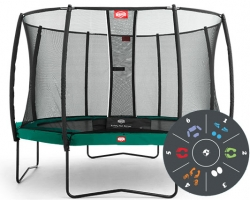 Батут Berg Elite+ Tattoo 430 + Safety Net T-series D=430 см