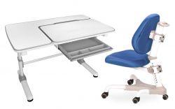 Комплект Mealux Парта Darwin с компьютерным креслом Champion и прозрачной накладкой на парту 65х45