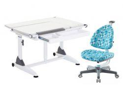 Комплект TCT Nanotec Парта G6+S (2 ГАЗ-ЛИФТА) с креслом Ergo-BABO и прозрачной накладкой на парту 65х45
