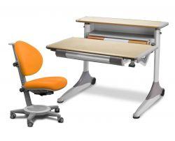 Комплект Mealux Стол Grand с креслом Cambridge и прозрачной накладкой на парту 65х45