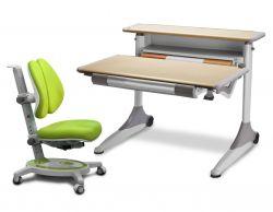 Комплект Mealux Стол Grand с креслом Stanford Duo и прозрачной накладкой на парту 65х45