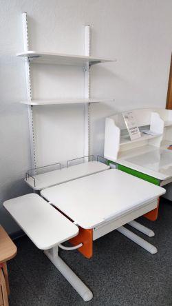 Парта Астек Юниор с ящиком, с задней и боковой полкой + стеллаж (образец)