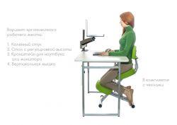 Металлический коленный стул SmartStool KM01BM со спинкой