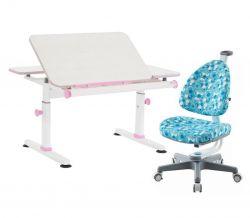 Комплект TCT Nanotec Парта M6+XS NEW с креслом Ergo-BABO и прозрачной накладкой на парту 65х45