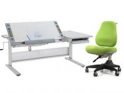 Комплект Comf-pro Парта M9 с креслом Match Chair (Матч) и прозрачной накладкой на парту 65х45