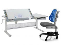"""Комплект Comf-pro Парта M9 с креслом """"Oxford"""" (Оксфорд) C3 и прозрачной накладкой на парту 65х45"""