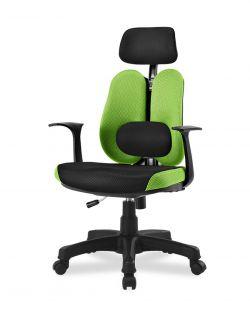 Ортопедическое кресло с двойной спинкой и поясничным валиком Synif DUO Gini